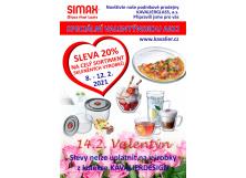 Valentýnská akce na podnikových prodejnách