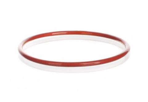 O-RING AUS SILIKON kunststoff beschichtet FEP, rot
