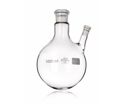 FLASK, DISTILLING ROUND BOTTOM, ONE OBLIQUE NECK