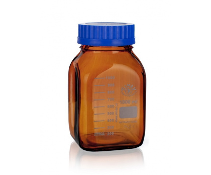 REAGENT BOTTLES   WITH GL80 with blue PP cap  with blue PP pouring ring