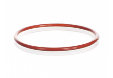 SEALING O-RING,SILICONE,FEP, plastic coated, red