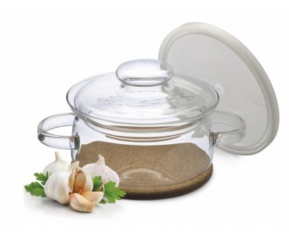 Simax Kavalier hrnec Gourmet s korkovou podložkou - s plastovým a skleněným víkem