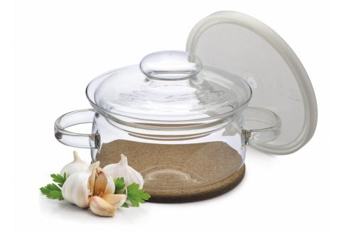 SIMAX Hrnec Gourmet s korkovou podložkou - s plastovým a skleněným víkem