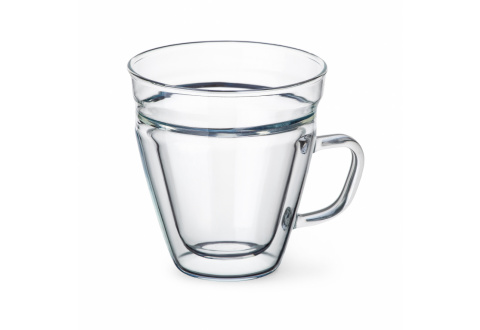 ESPRESSO-GLAS MIT HENKEL