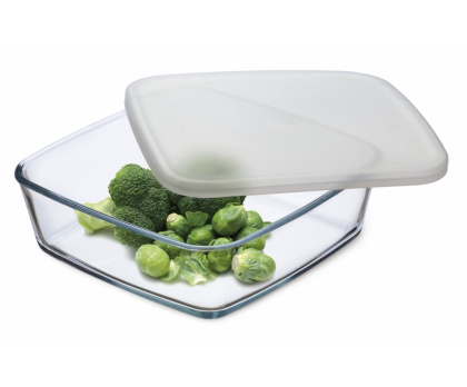 STORAGE DISH WITH PLASTIC LID