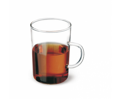 TEA GLASS CONICAL WITH HANDLE