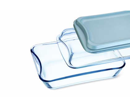 RECTANGULAR ROASTER WITH GLASS AND  PLASTIC LID