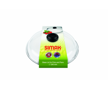 GLASS LID WITH PLASTIC KNOB FOR POTS AND PANS, HIGH, SLEEVE