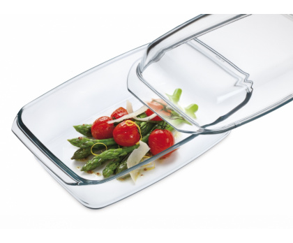 OBLONG CASSEROLE WITH LID