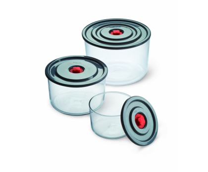 3-PIECE STORAGE DISH SET WITH PLASTIC LID