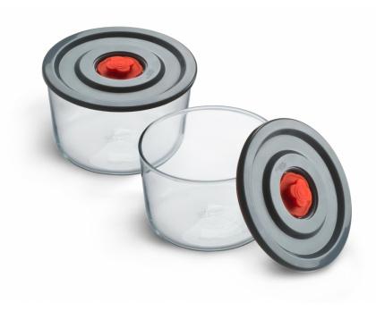 2-PIECE STORAGE DISH SET WITH PLASTIC LID