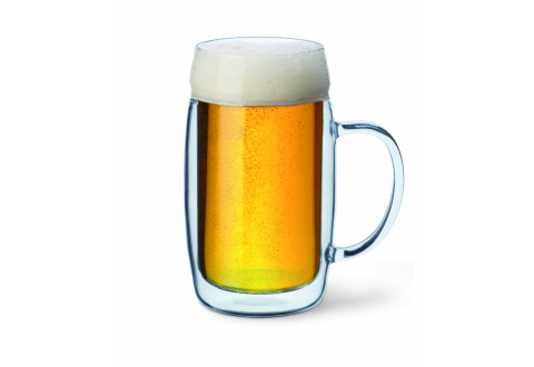 BEER GLASS WITH HANDLE