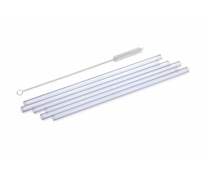 GLASS DRINKING STRAWS WITH CLEANING BRUSH