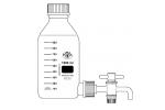LABORFLASCHE BODENTUBUS GL32 + HAHN PTFE