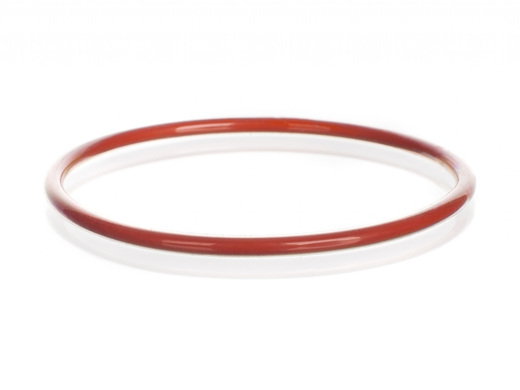 SEALING O-RING,SILICONE,FEP, plastic coated, red | Kavalier.cz
