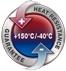 Garance použití při teplotě od -40°C do +150°C