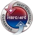 Benutzungsgarantie bei Temperatur von-40°C bis+150°C
