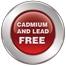 Hergestellt aus Recycling-Glasmasse ohne Kadmium und Blei