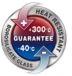 Benutzungsgarantie bei Temperatur von-40°C bis+300°C