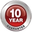 10-year guarantee of all functional properties